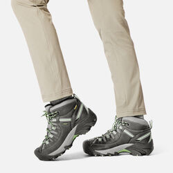 Women's Targhee II Waterproof Mid in  - on-body view.