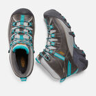 Women's Targhee II Waterproof Mid in Gargoyle/Caribbean Sea - small view.