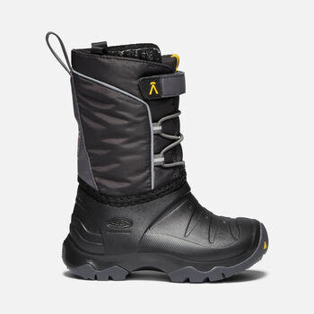 Little Kids' LUMI Waterproof Winter Boot in BLACK/MAGNET - large view.