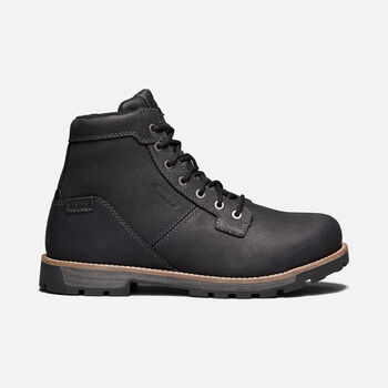 "Men's Seattle 6"" Waterproof (Aluminum Toe) in BLACK/GARGOYLE - large view."
