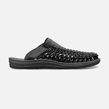 Women's UNEEK SLIDE in BLACK/BLACK - large view.