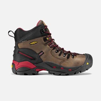 """Men's Pittsburgh 6"""" Boot (Steel Toe) in Bison - large view."""