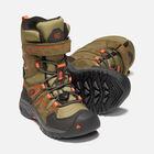 Little Kids' LEVO Waterproof Winter Boot in BLACK OLIVE/PUREED PUMPKIN - small view.