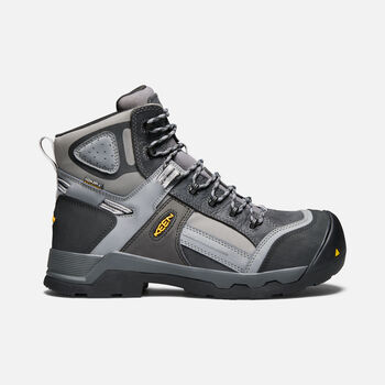 "Men's DAVENPORT 6"" Insulated Waterproof Boot (Composite Toe) in Magnet/Steel Grey - large view."
