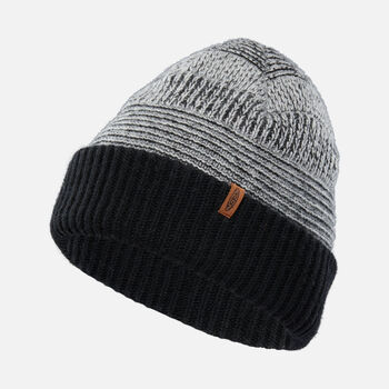 Reversed Press Beanie in Black - large view.
