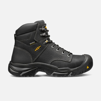 "Men's Mt Vernon 6"" Boot (Steel Toe) in Black - large view."