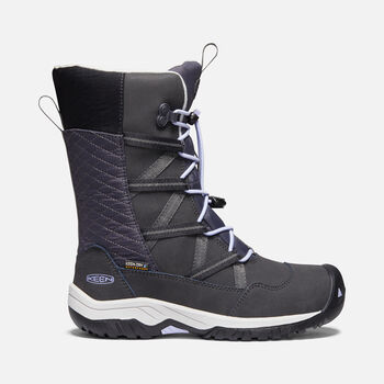 Big Kids' Hoodoo Waterproof Boot in BLACK/SWEET LAVENDER - large view.