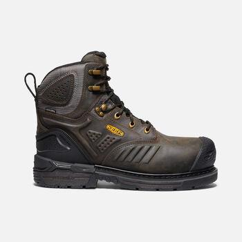 "Men's Philadelphia 6"" Waterproof Boot (Carbon-Fiber Toe) in CASCADE BROWN/BLACK - large view."