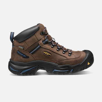 Men's Braddock AL Waterproof Mid (Steel Toe) in Bison/Ensign Blue - large view.