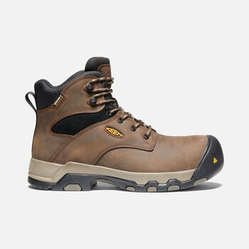 "Men's ROCKFORD 6"" WP (COMPOSITE TOE) in CASCADE BROWN/BLACK - large view."