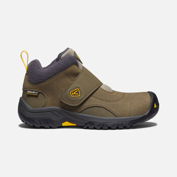 Big Kids' Kootenay II Waterproof Boot in CANTEEN/OLD GOLD - large view.