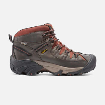Men's Targhee II Waterproof Mid in Raven/Tortoise Shell - large view.