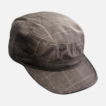 KEEN Short Bill Hat in Brown Plaid - large view.