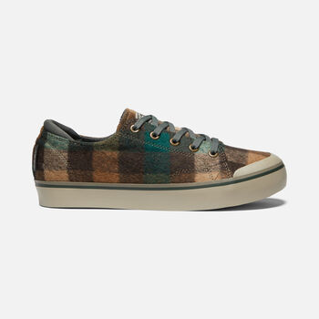 Women's Elsa III Plaid Sneaker in BROWN PLAID/CLIMBING IVY - large view.