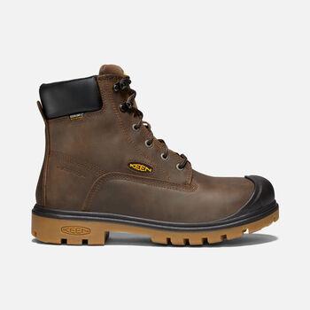 "Men's BALTIMORE 6"" Waterproof Boot (Steel Toe) in Brown - large view."