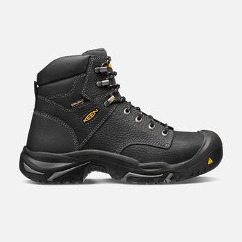 "Men's Mt Vernon 6"" Boot (Steel Toe) in Black - large view."