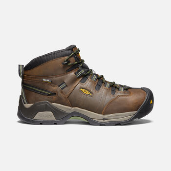 Men's Detroit XT Waterproof Boot (Steel Toe) in CASCADE BROWN/BRONZE GREEN - large view.