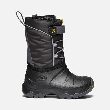 Little Kids' LUMI Waterproof Winter Boot in BLACK/MAGNET - large view.