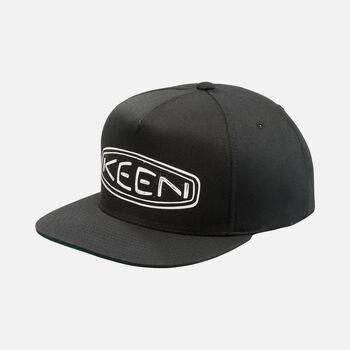 Fellows' Logo Flat Brim Hat in Black - large view.