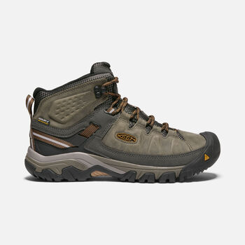 Men's TARGHEE III Waterproof Mid in BLACK OLIVE/GOLDEN BROWN - large view.