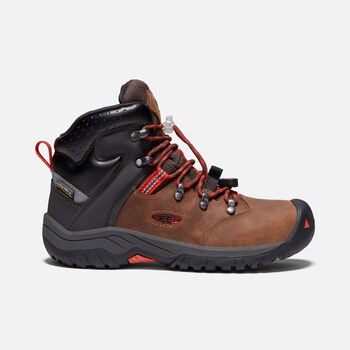 Big Kids' Torino II Waterproof Boot in TORTOISE SHELL/FIREY RED - large view.