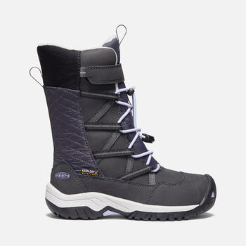 Little Kids' Hoodoo Waterproof Boot in BLACK/SWEET LAVENDER - large view.
