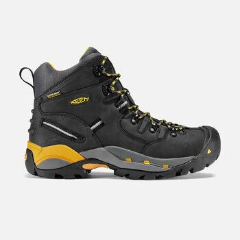 "Men's Pittsburgh 6"" Boot (Steel Toe) in Black - large view."