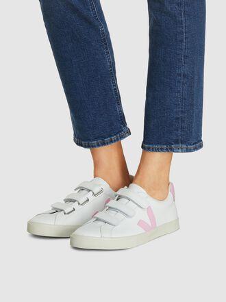 VEJA - 3-Lock Velcro White Leather Sneakers