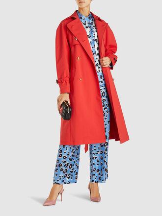 Escada - Heart-Belt Cotton-Blend Trench Coat