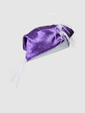 Taller Marmo - Acceptance Speech Feathered Satin Turban