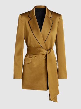 LAYEUR - Eve Double-Breasted Satin Blazer