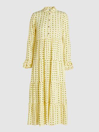 Ganni - Floral-Print Crepe Midi Dress