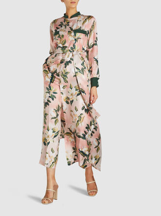 F.R.S For Restless Sleepers - Galene Long Sleeve Floral Silk Kaftan
