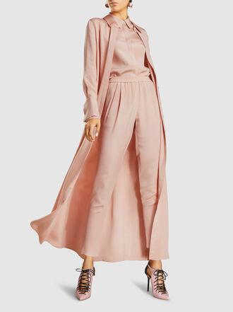 LAYEUR - Silk Maxi Shirt Dress