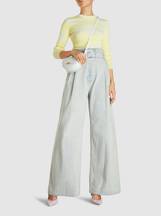 Proenza Schouler - Tie-Dye Ribbed Long Sleeve Cotton-Jersey Top