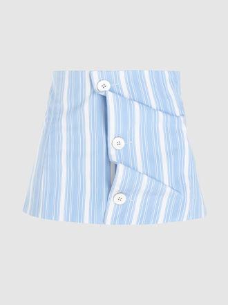 Jil Sander - Striped Button Down Corset Belt