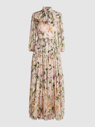 Dolce & Gabbana - Lily-Print Silk-Chiffon Gown