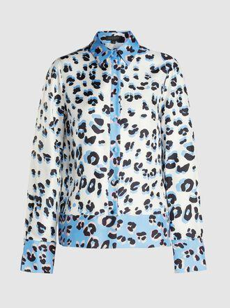 Escada - Ninja Leopard-Print Silk Shirt