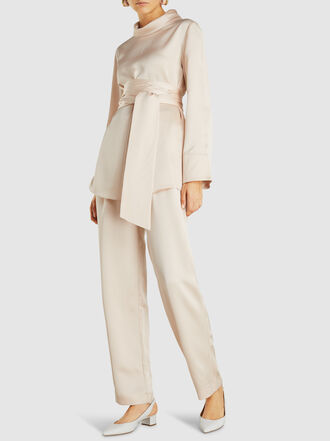 LAYEUR - Leigh Straight-Leg Viscose-Blend Trousers