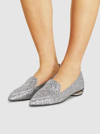 Nicholas Kirkwood - Beya Glitter Leather Loafers
