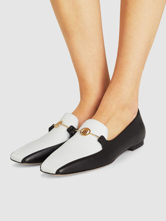 Burberry - Almerton Two-Tone Leather Loafers