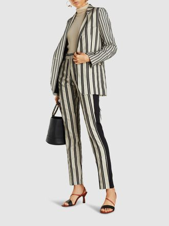 Ann Demeulemeester - Striped Single Breasted Cotton-Blend Blazer