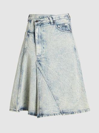 Proenza Schouler - Acid Wash Asymmetrical Denim Midi Skirt