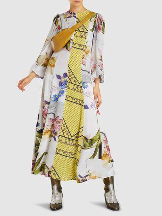 Ganni - Hemlock Colour Block Printed Dress