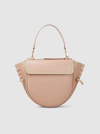 WANDLER - Hortensia Medium Woven Trim Leather Bag