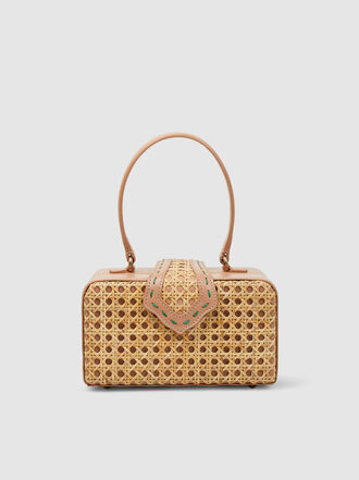 MEHRY MU - Fey In The 50s Woven Rattan Bag