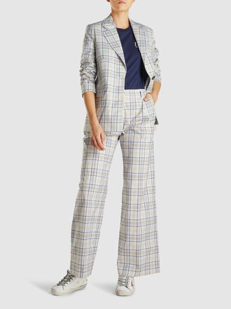 Baum und Pferdgarten - Nilini Checked Cotton-Blend Trousers