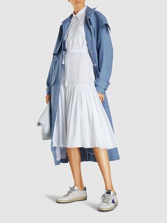 Marni - Pleated Hem Cotton Shirtdress