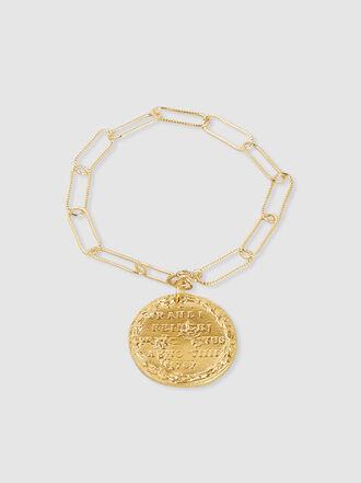 ALIGHIERI - Il Leone Gold-Plated Coin Charm Bracelet