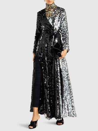 We Are Leone - Two-Tone Sequinned Wrap Dress